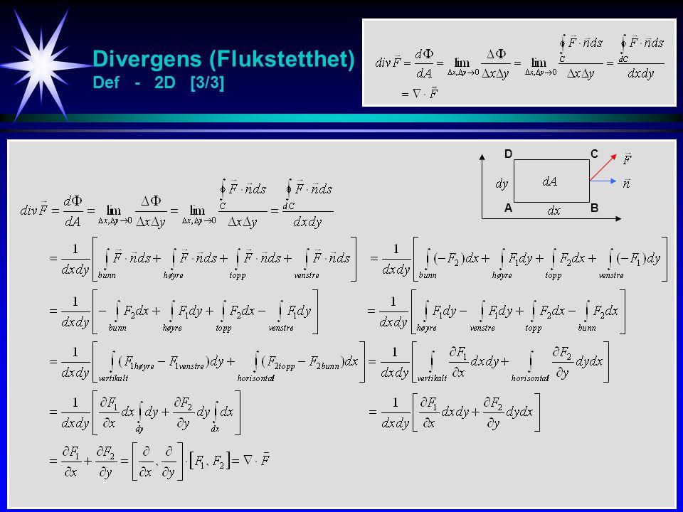 Divergens (Flukstetthet) Def - 2D [3/3]
